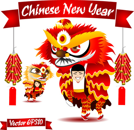 924 Dragon And Lion Dance Cliparts, Stock Vector And Royalty Free ...