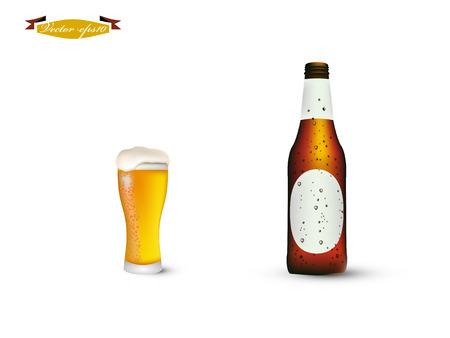 瓶とビールのグラス 写真素材 - 35588325