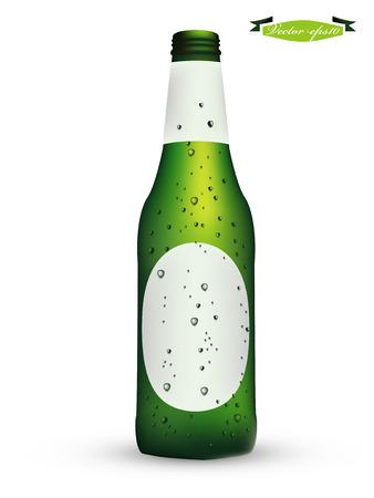 flesje bier vector