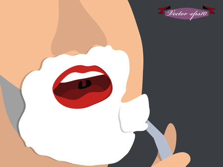 hair cutter: shave vector