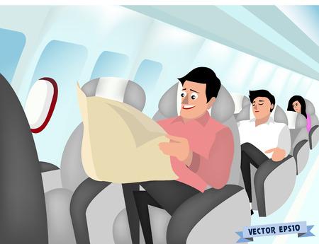 Vector del interior del avión