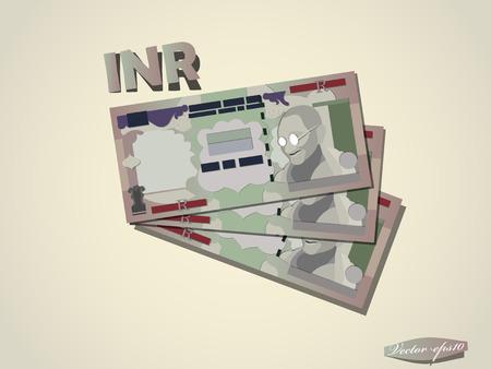 indian rupees money paper vector design Illustration