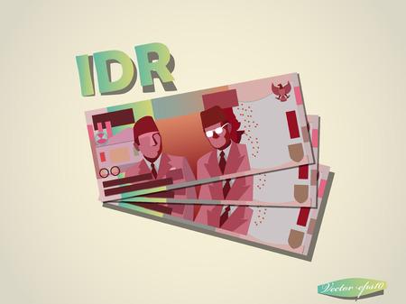 indonesian rupiahs money paper vector design