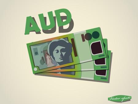 pay money: austratian dollars  money paper vector design