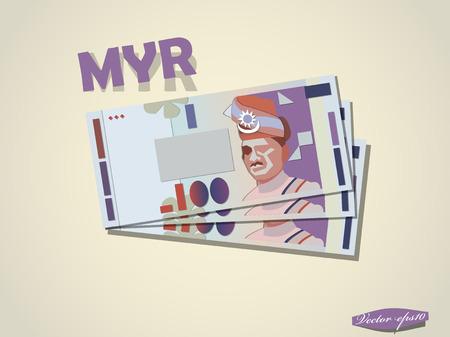 マレーシア ・ リンギットお金紙ベクター デザイン 写真素材 - 37449076