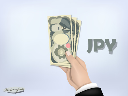 japanese yen money paper on hand,cash on hand