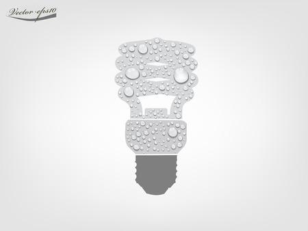 CFL light bulb from transparent water drop vector