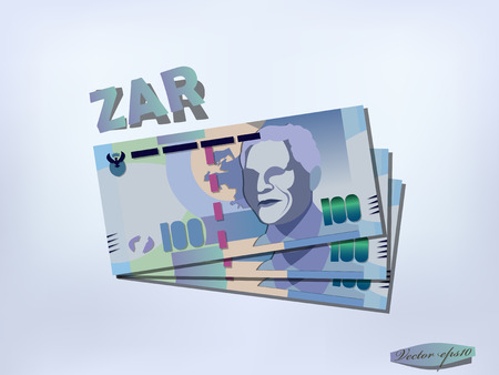south african: south african rand money paper design