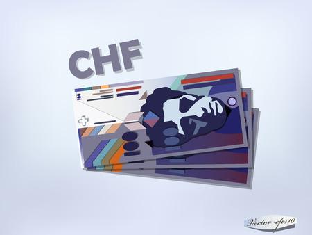 swiss: swiss franc money paper design
