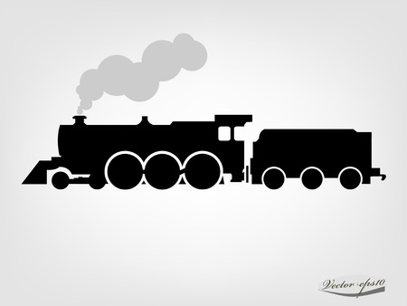 locomotora: Locomotora a vapor silueta