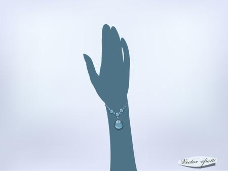 bracelet on silhouette hand