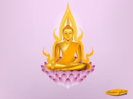 buddha lotus: vector of buddha sitting on lotus,buddha design Illustration