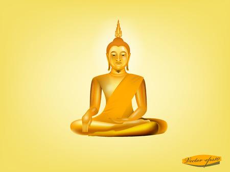 budha: buddha on yellow background Illustration