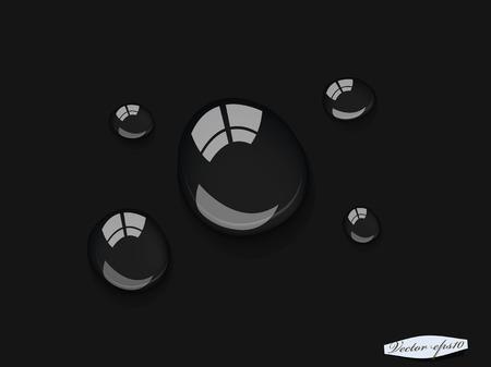 transparent water drop design vector Illustration