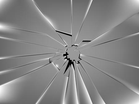 realistische gebroken raam van glas vector