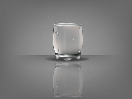condensation on glass: realistic beautiful whisky glass with transparent water condensation vector