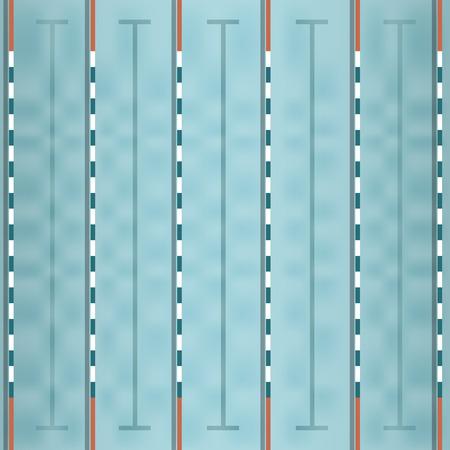natacion: vector de la vista superior piscina Vectores