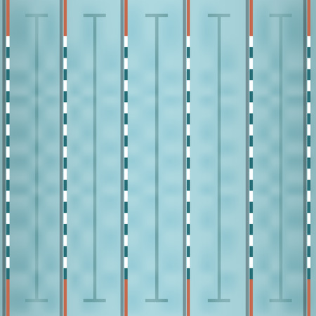 competitions: vector of swimming pool top view