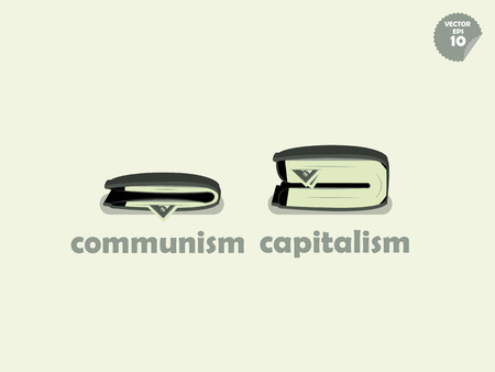 communism: wallet money comparison between communism and capitalism