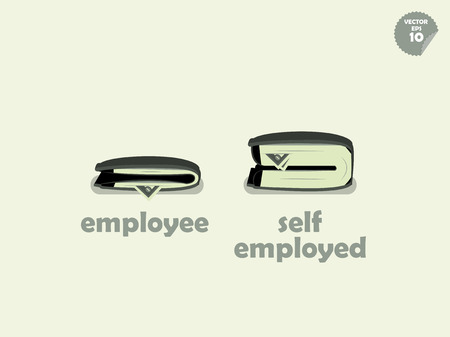 wallet money comparison between employee and self employed