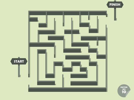 hard to find: cute maze in flat concept
