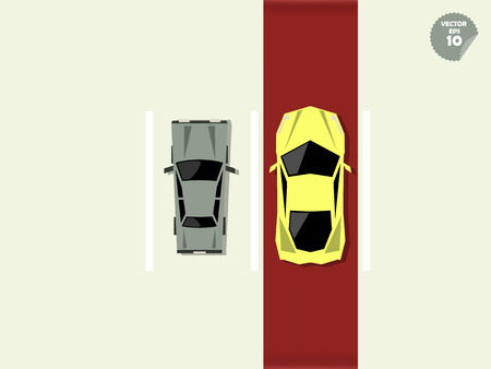 super car: VIP concept, the difference between super car and general car when park at parking