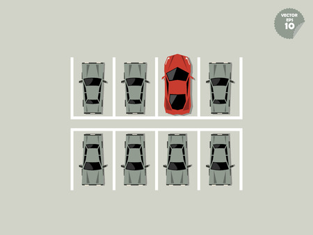 unfairness: vip concept, super car park at parking Illustration