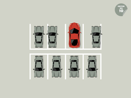 accredit: vip concept, super car park at parking Illustration