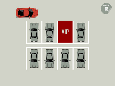parking lot: vip concept, red vip parking lot