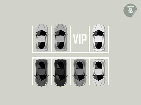 accredit: vip concept, super car parking