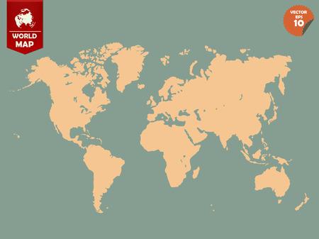 mapa politico: colorido mundo político mapa de diseño vectorial