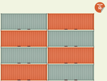 dockyard: container stacked waiting for shipping,logistic concept
