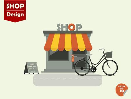 shop window display: shops stores vector design
