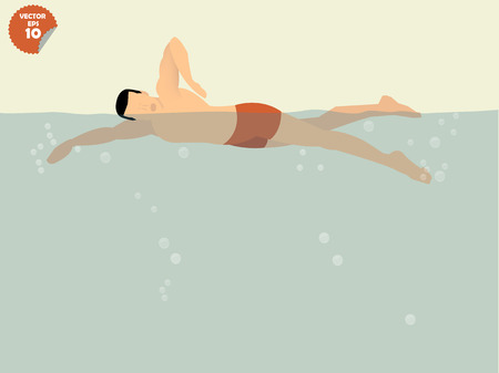 butterfly stroke: free style swimming concept