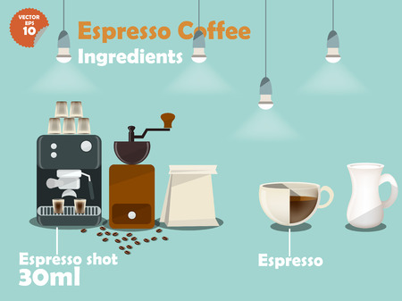 graphics design: graphics design of espresso coffee recipes