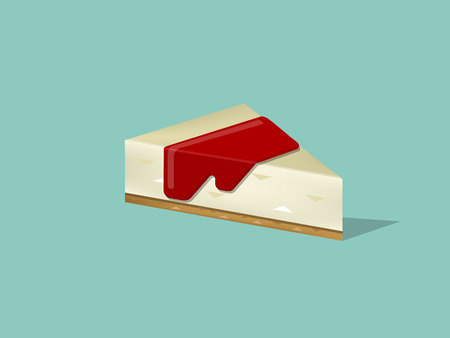 cheese cake: beautiful design of a piece of cheese cake ,colorful dessert concept design
