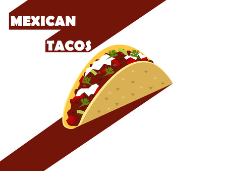 taco: flat design of mexican tacos