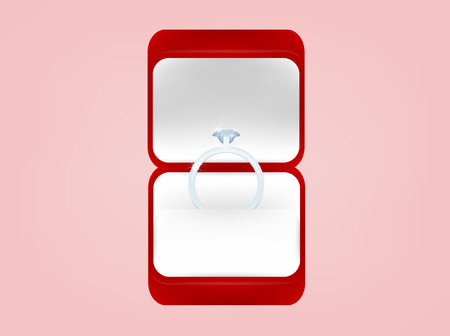 wedding ring: beautiful graphic design of wedding ring in red box,wedding concept design