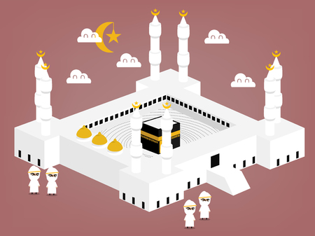 religious backgrounds: beautiful graphic design of Kabah