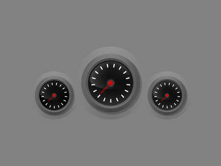 fuel gauge: realistic graphic design of speed,power,fuel gauge meter,illustration of gauge meter