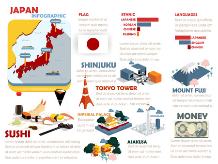 beautiful info graphic design of Japan