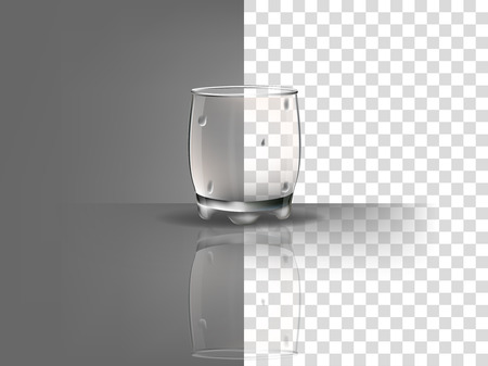 condensation on glass: realistic beautiful whisky glass with transparent water condensation vector on transparent background Illustration
