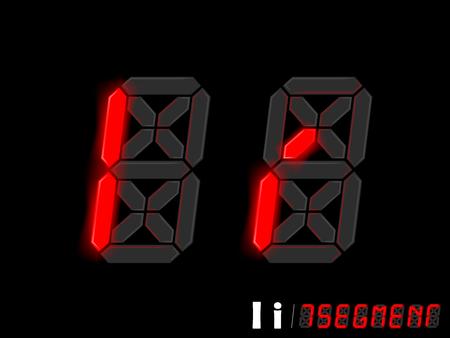 segmentar: diseño gráfico vectorial de siete segmentos alfabeto de estilo - I y I, diseño tipográfico de siete segmentos Vectores