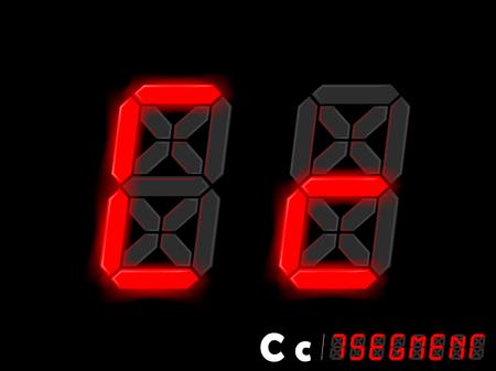 segment: graphic design vector of seven segment style alphabet - C and c