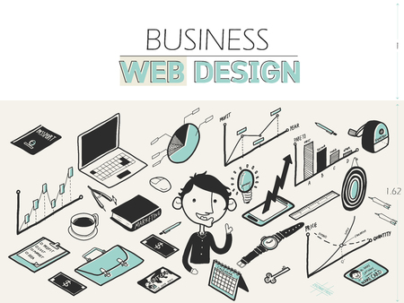 freehand drawing: beautiful freehand drawing isometric graphic doodle design style of business :creative ideas. business freehand drawing doodle style illustration for web banners, brochure
