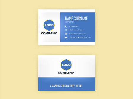 color design: beautiful graphic design of business card in light color Illustration