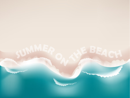 white sand beach: beautiful graphic design background realistic of white sand beach and emerald sea with copy space, summer on the beach wallpaper