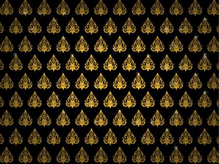 thai buddhism art pattern wallpaper background vector design, thai pattern background design concept