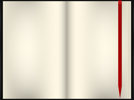 blank note: realistic illustration vector of blank note book
