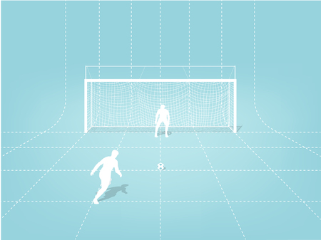 ペナルティのイラスト ベクター グラフィック デザイン コンセプト キック サッカー トレーニング